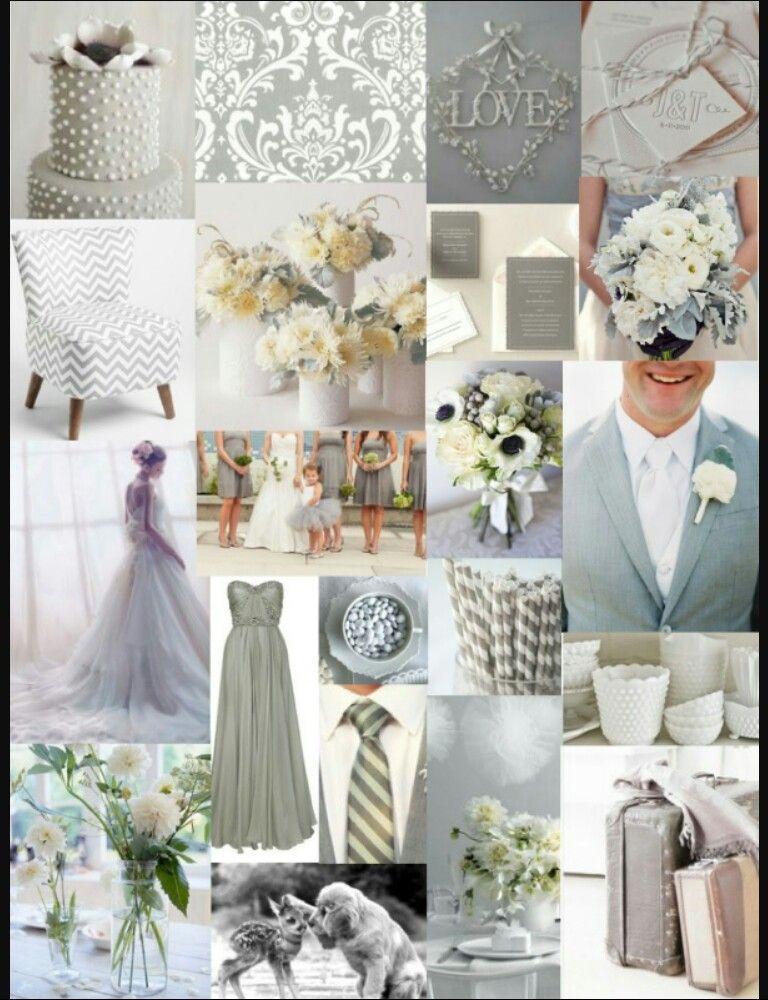 Silver Wedding Colour Themes Colour Themes Pinterest Silver
