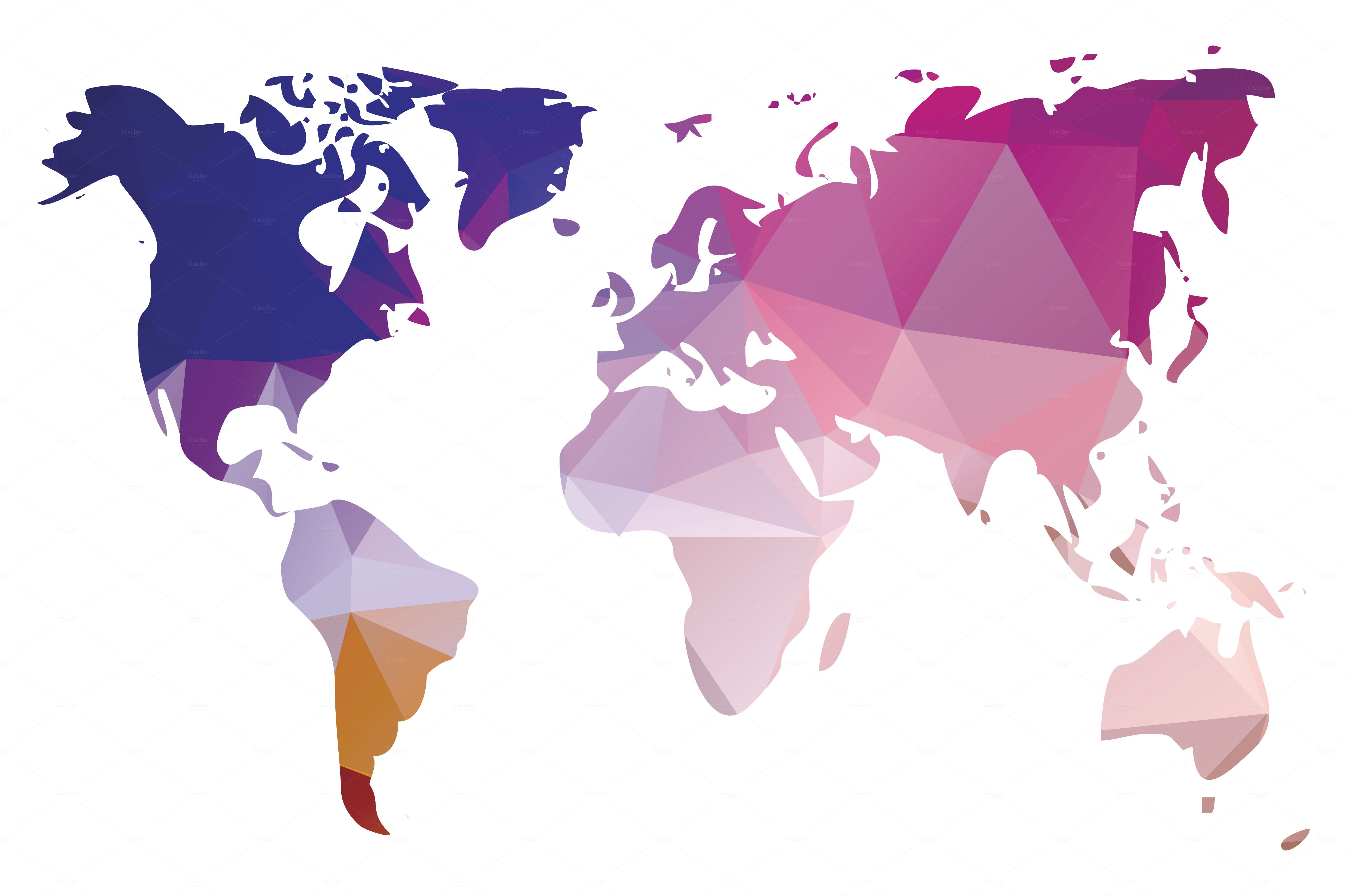 10 World Maps in Different Design by