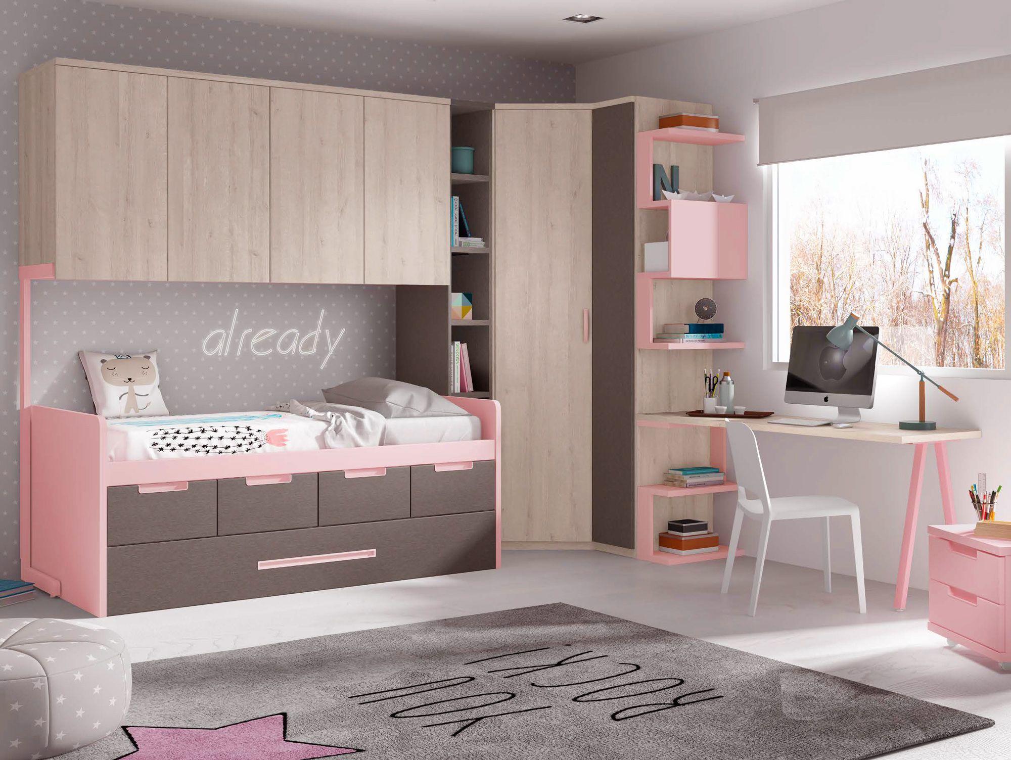 Chambre Fille Avec Lit Gigogne GLICERIO SONUIT Interiordesign - Lit gigogne fille