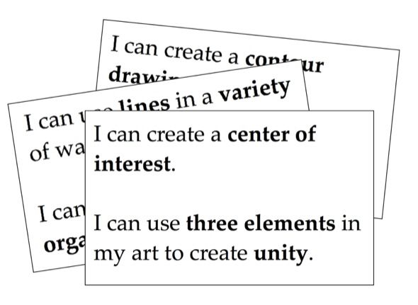 How I CAN Statements Can Work For You | Assessments | Art curriculum