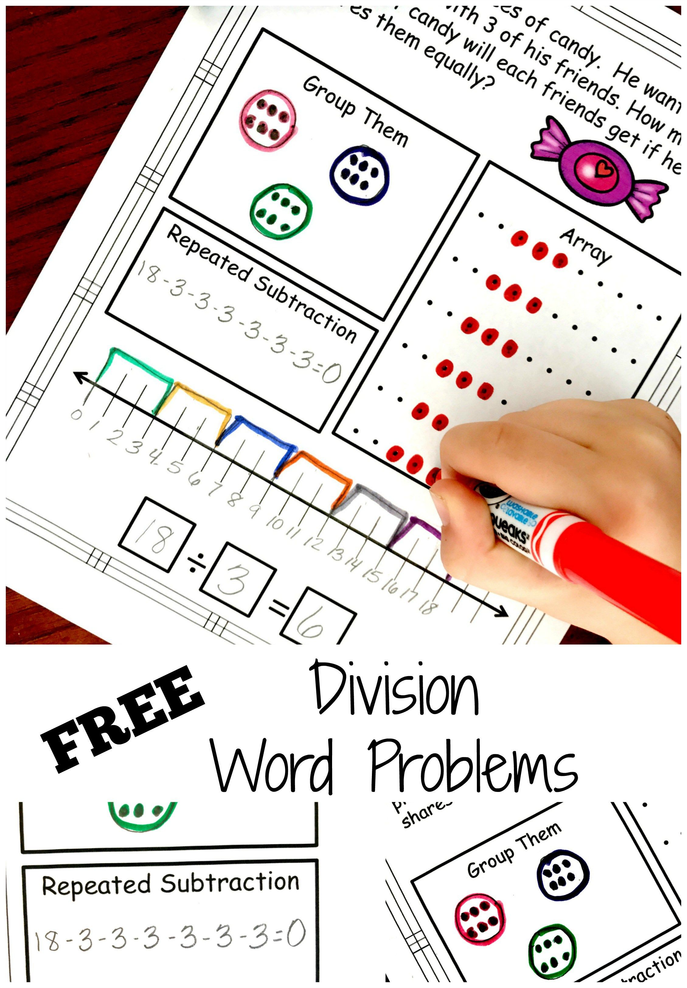 Division A way to introduce and practice division number stories ...
