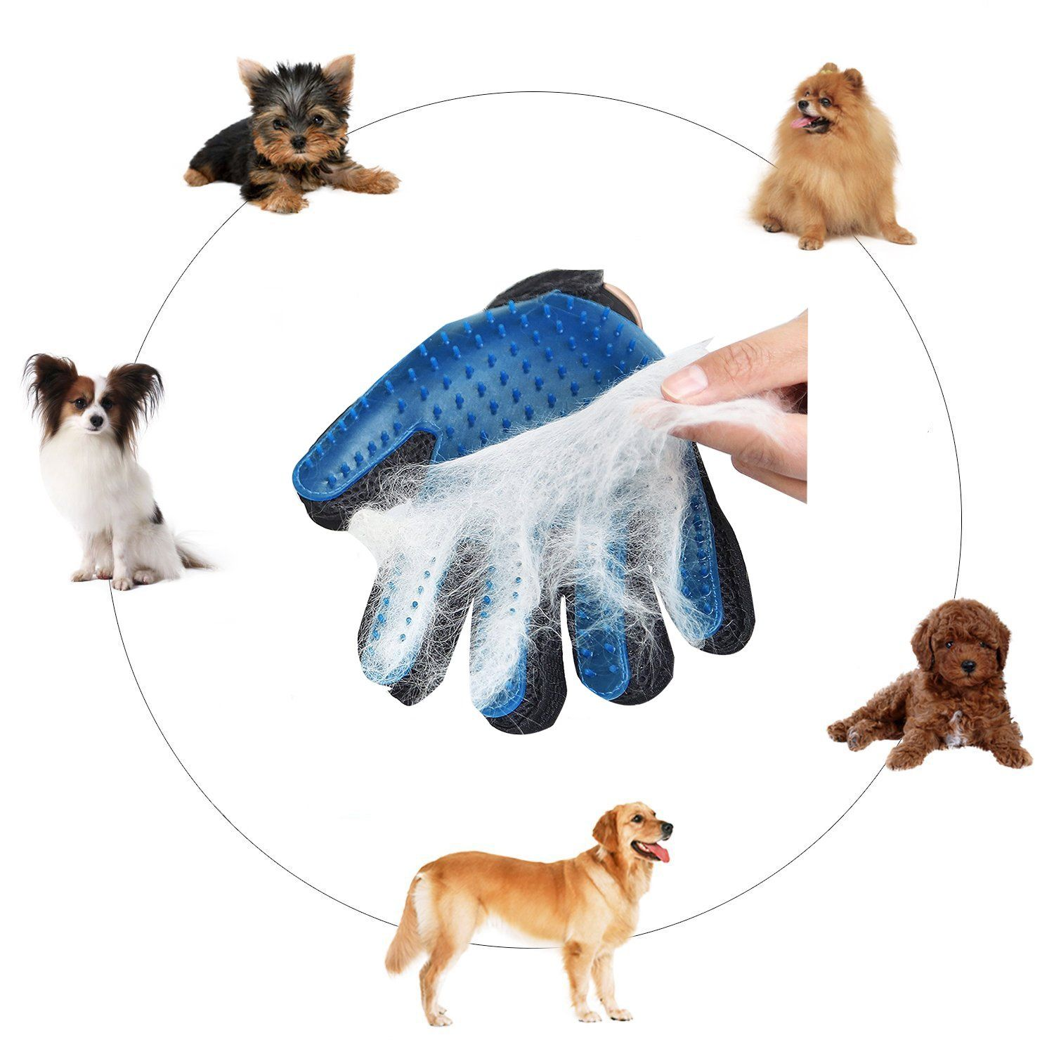 Youmeet Pets Grooming Glovemassage Tool For Pet Hair Removergentle