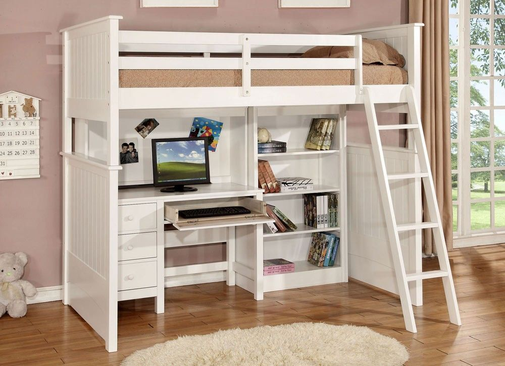School House Loft Bed With Desk And Storage Loft Bed With Desk