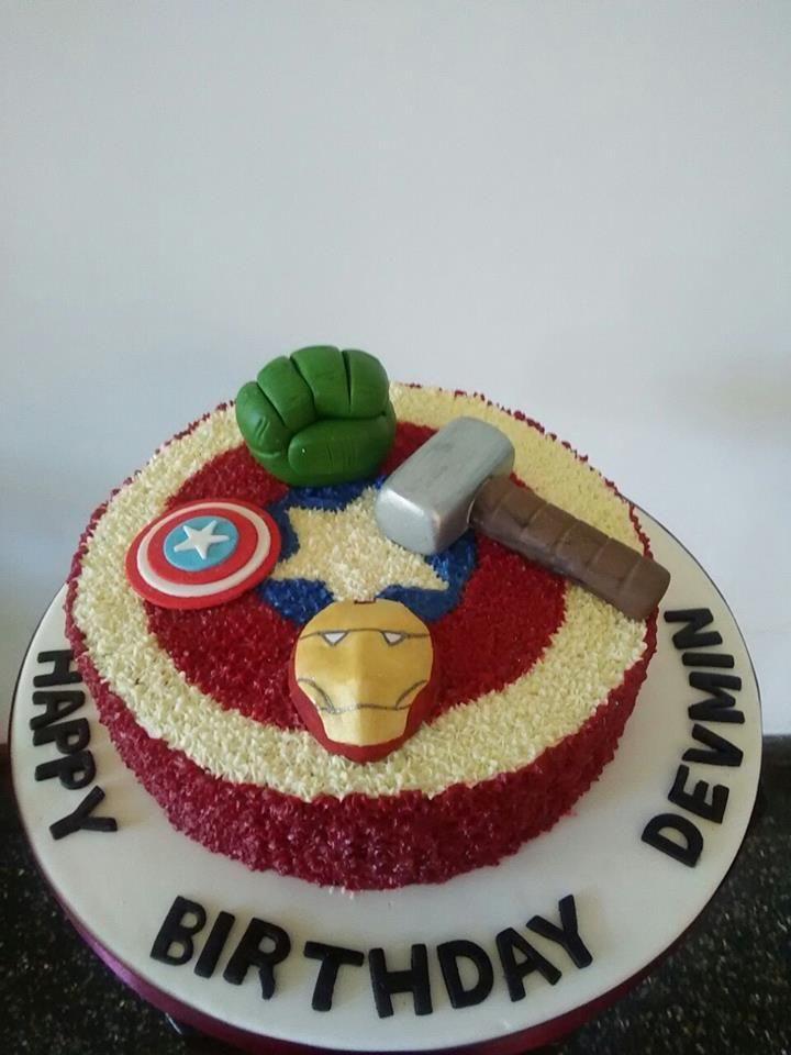 Avengers Birthday Cake Designed And Created By Yamuna Silva Of Yami