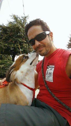 October Barking Attendant Of The Month Is Chris Heslin He Started Volunteering For Tbl After Adopting Stevie The Blind Won Dog Minding Dog Adoption Volunteer