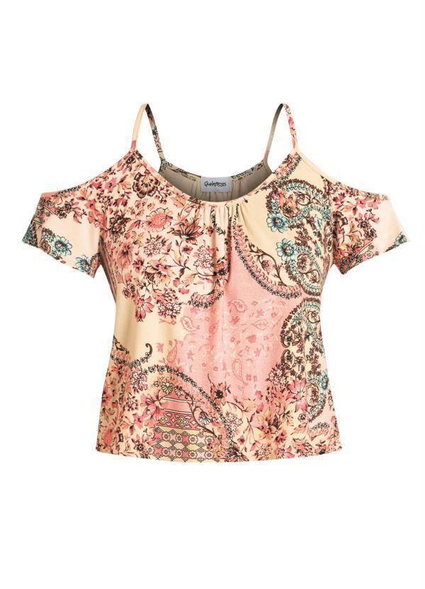 Blusa Ombros Vazados (Étnico Floral)
