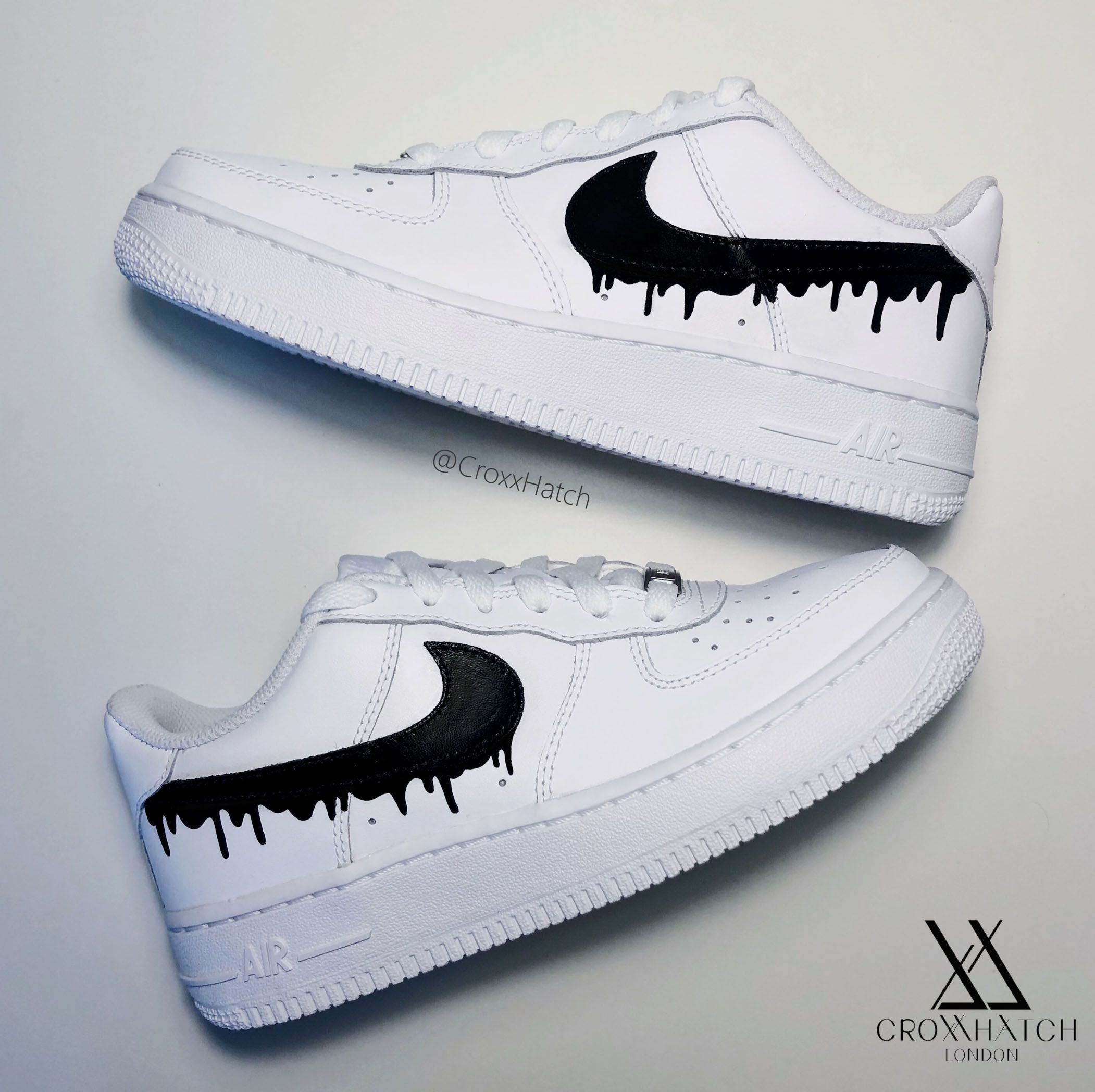 Dripping Paint Air Force 1 Custom Sneakers in 2020 Nike