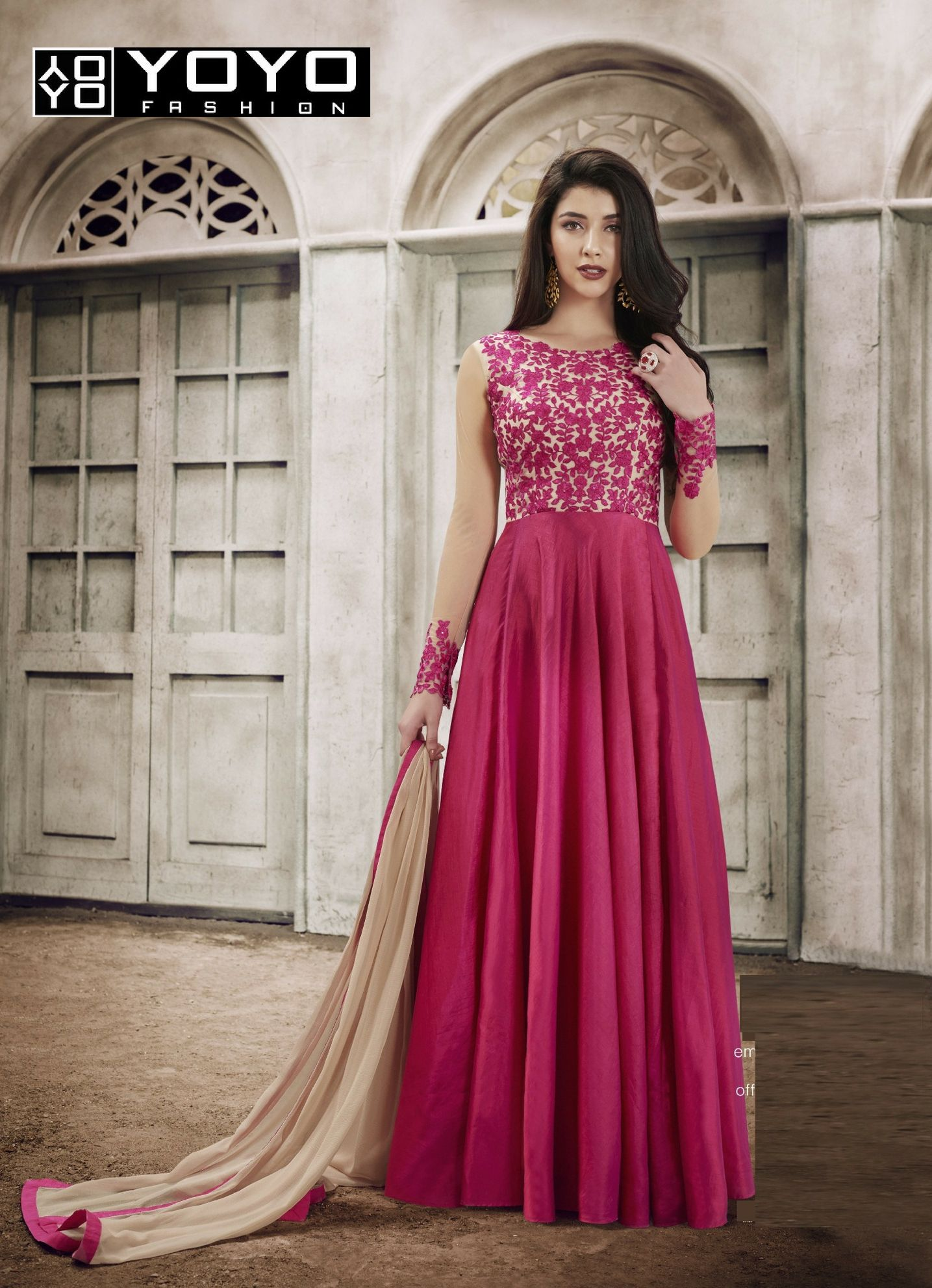 554dc82830 Take your love for Stunning Pink Anarkali Salwar Suit in the pleasing shade  at #YOYOFashion. Call or Whatsapp for more info here : +91-8000588688 #Style  ...