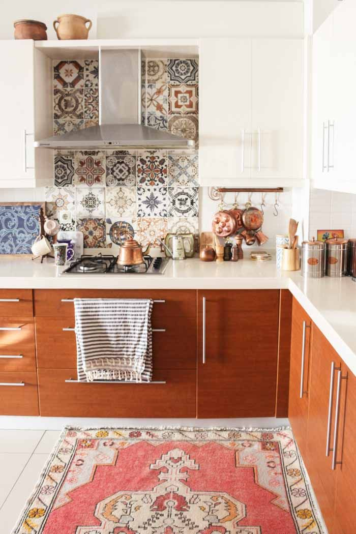 In Turkey A Home Layered With Prints Colors And Kilims Kitchen