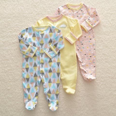 a9602e4be3d4 2018 Baby Romper Set 3pcs Newborn Clothes 3M-12M Infant Clothing ...