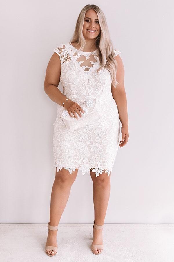 Plus Dimension White Costume For Bridal Bathe