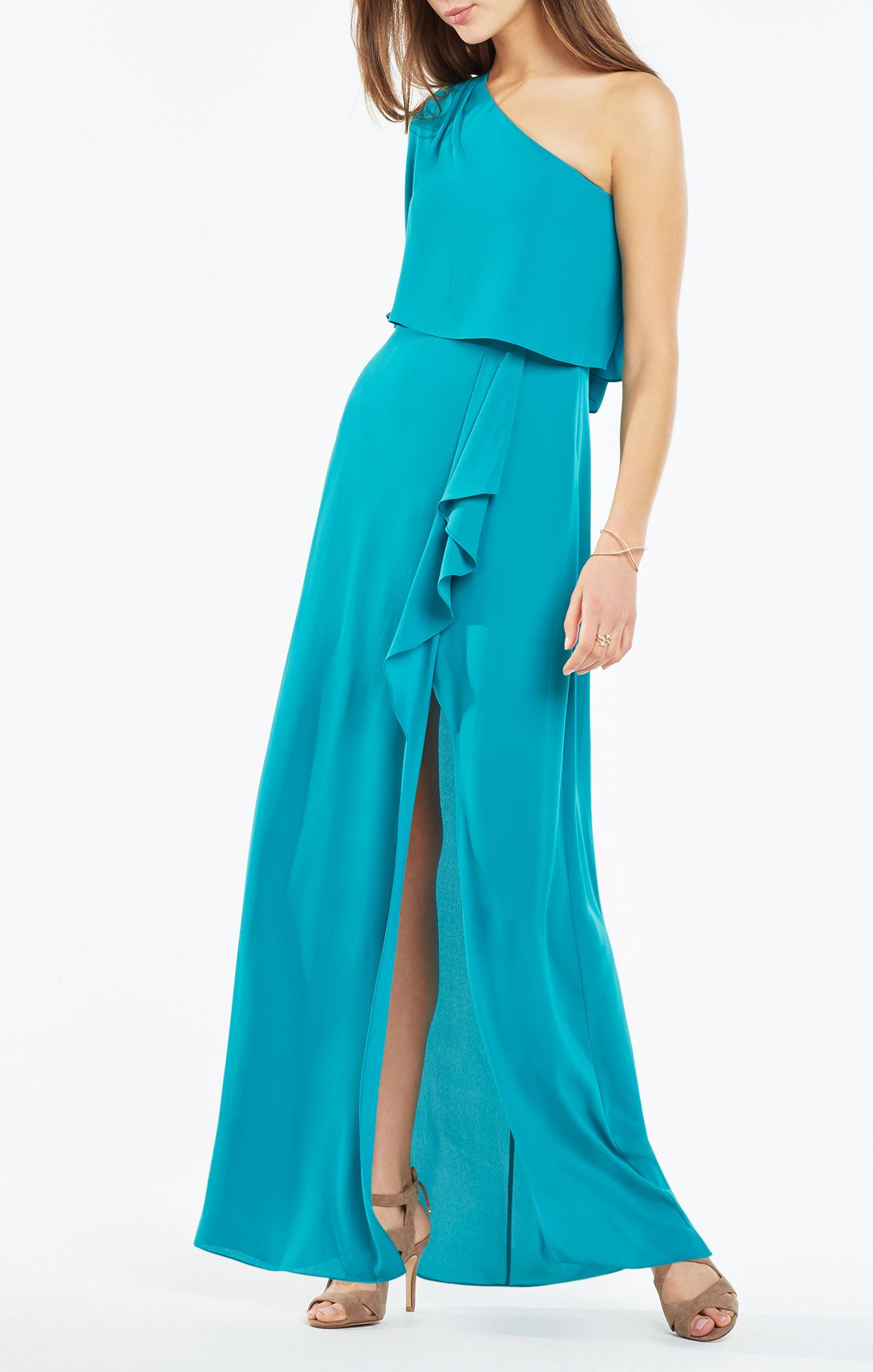 Secha One-Shoulder Draped Gown   MAXImum Potential   Pinterest