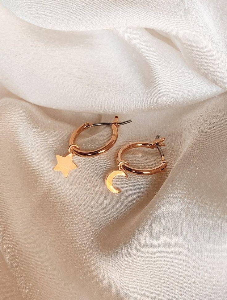Photo of Jewelry Accessories – Olivia Star & Moon Wenigstens Huggies