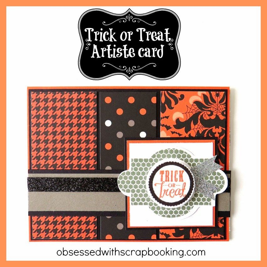 Obsessed With Scrapbooking Videoartiste Cricut Trick Or Treat