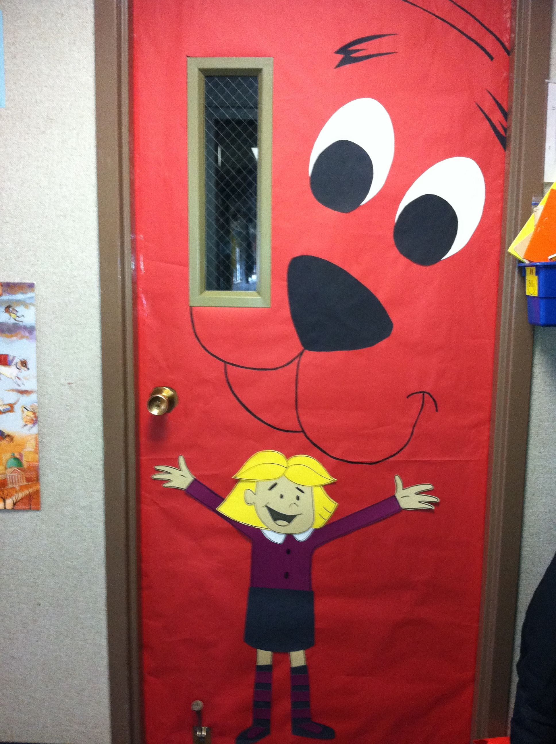 March Reading Month Door Book Idea Clifford The Big Red