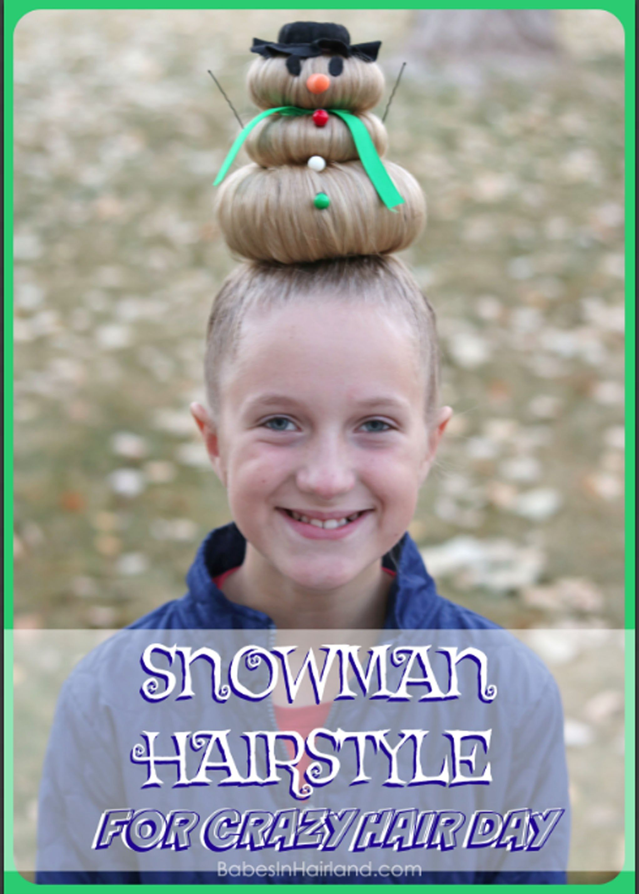 Take crazy hair day seriously go all out with this cute silly