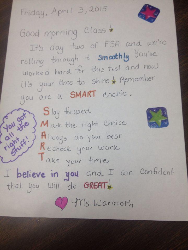 Fsa Motivational Letter Letter Of Encouragement Testing
