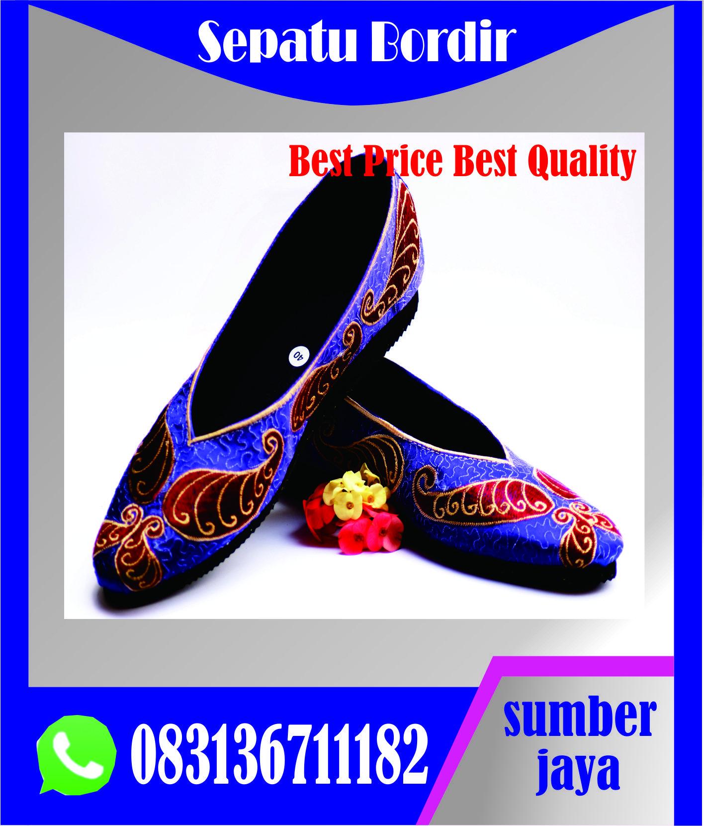 Sepatu Bordir Jawa Tengah Sepatu Bordir Lawang Sepatu Bordir