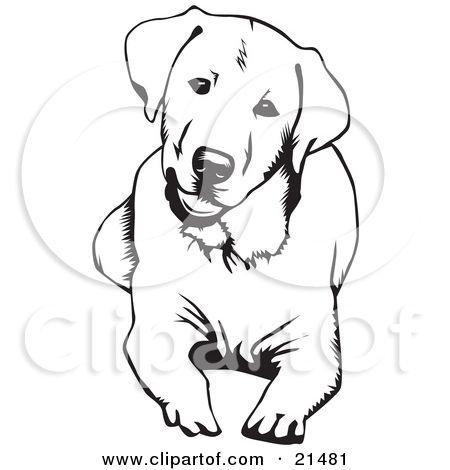 Black Lab Tattoo Idea Dog Tattoos Dog Sketch Dog Outline