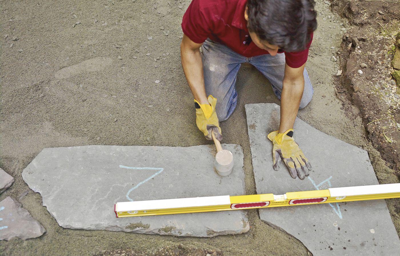 how to install bluestone patio