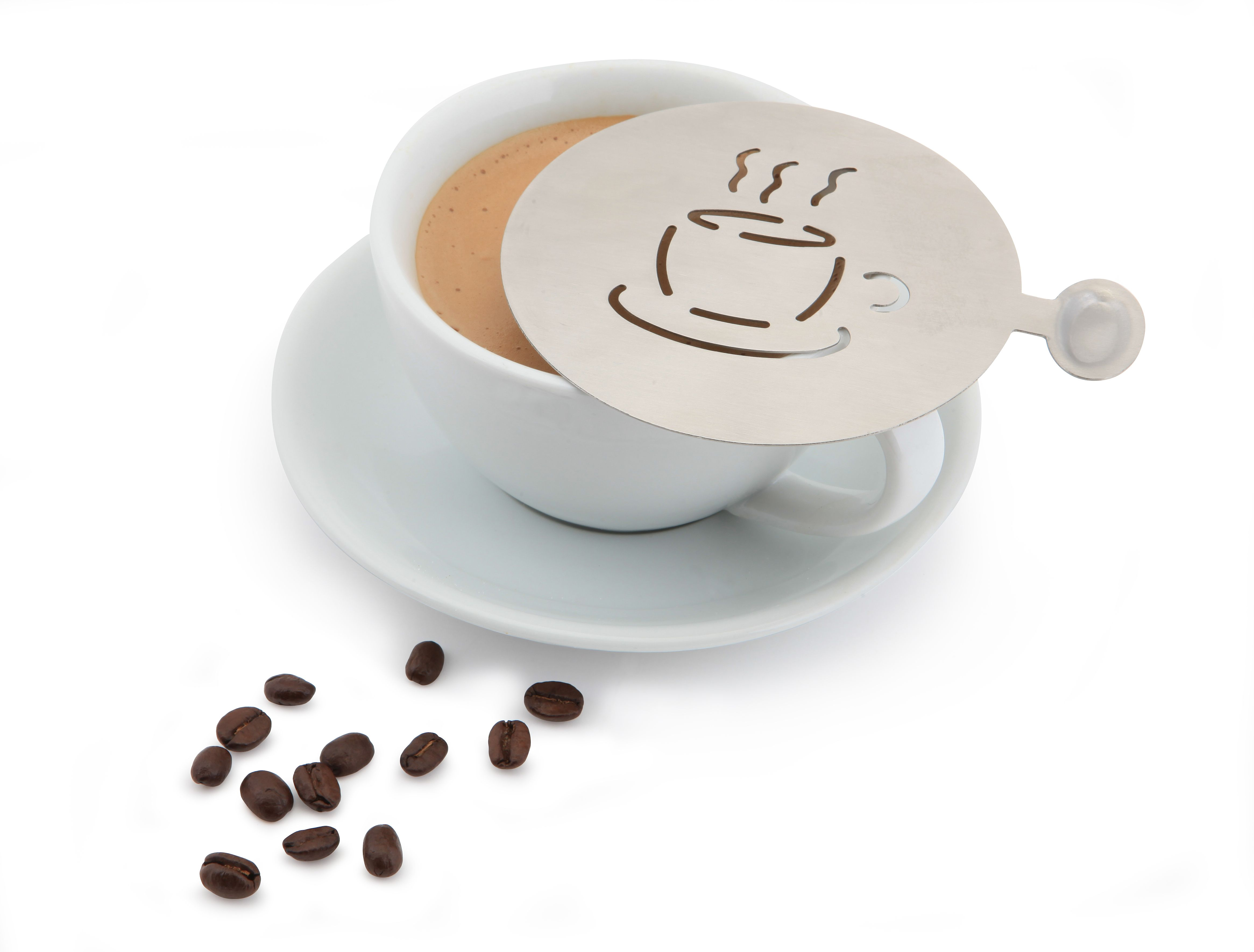 Stainless Steel Coffee Stencil    Perfect for turning a cappuccino into something special every time!    Now available in two different designs