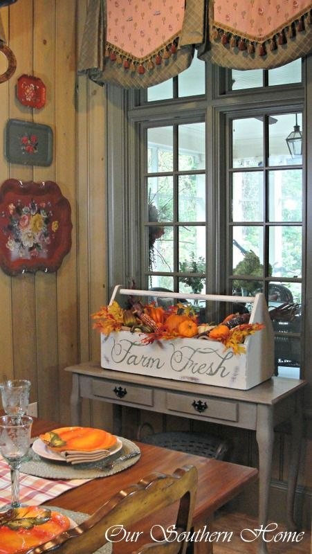 Fall Home Tour {Virtual The box, Tool box and Farms