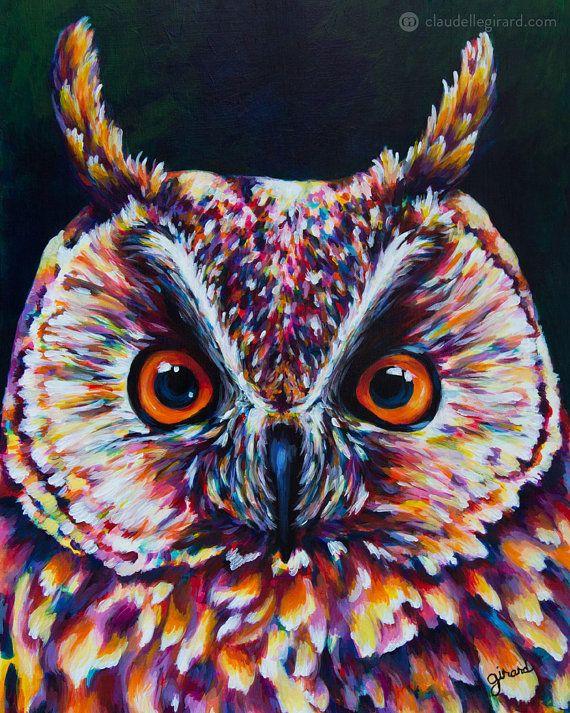 8x10 Instant Digital Download Great Horned Owl door claudelle