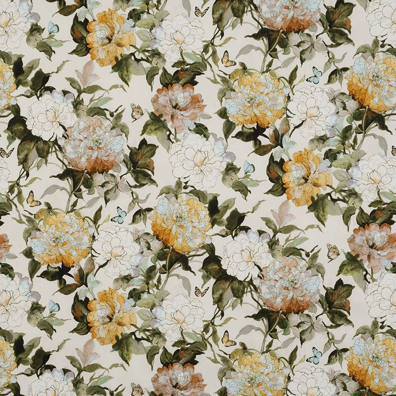 Camellia Cameo 12622 101 James Dunlop Textiles Upholstery Drapery Wallpaper Fabrics Old World Charm
