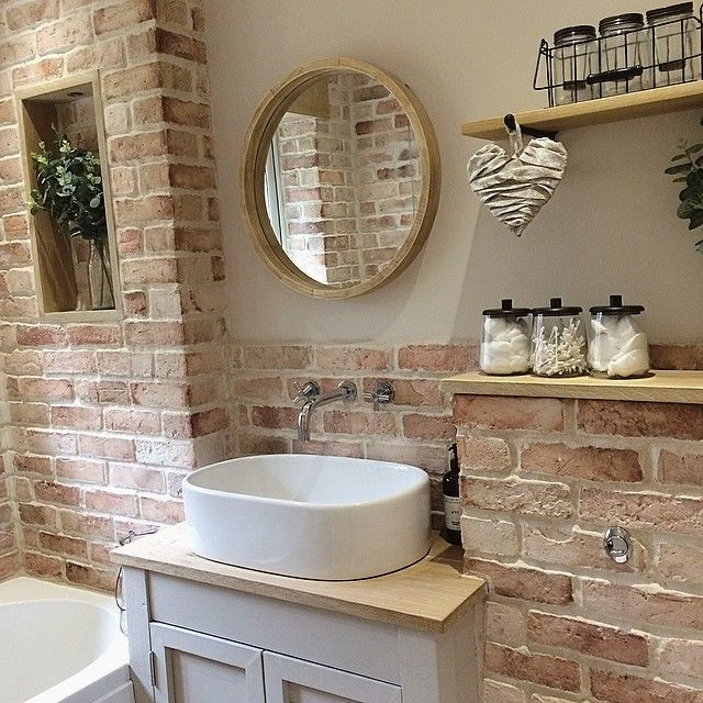 "Photo of 🌹Christine / Chrisi 🌹 on Instagram: "". Bathrooms cleaned – now time for lunch!!. .  My gorgeous oak shelf is from @floandcointeriors . Lovely rustic Hanging heart is from…"""