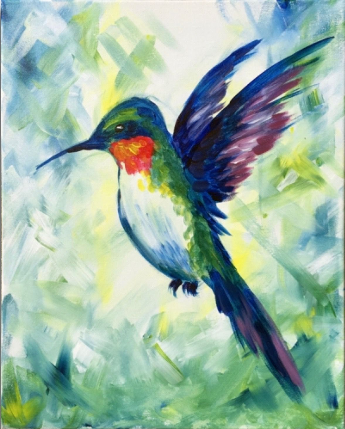 Bird paintings on canvas by Cate Casper on Art is Life