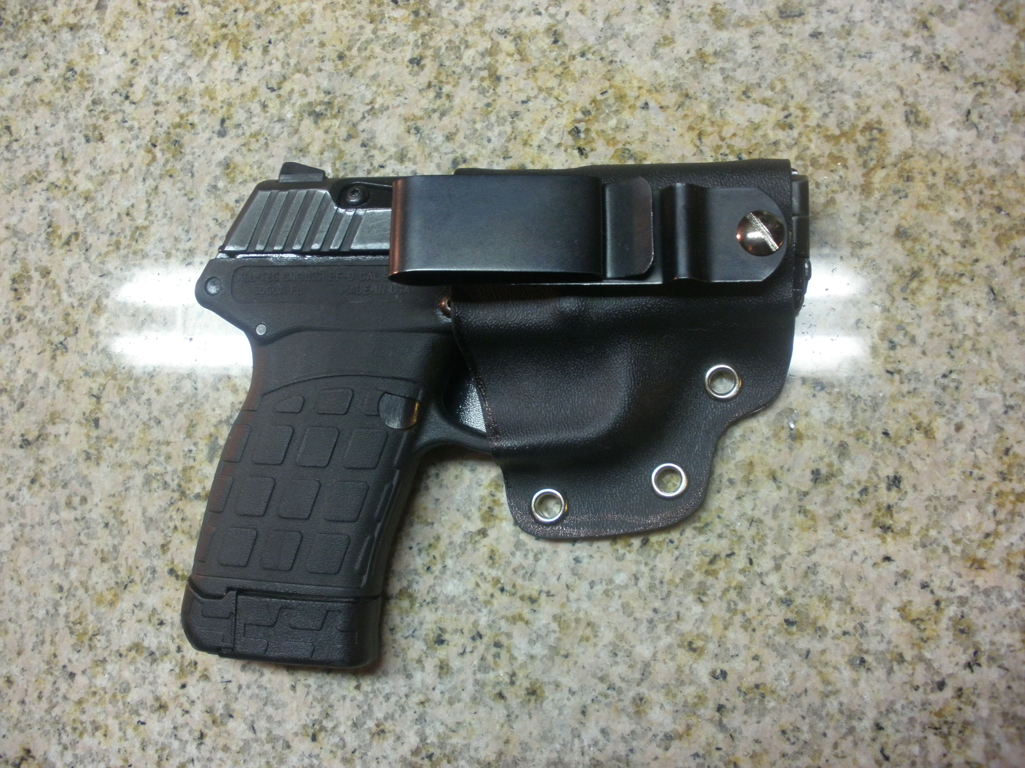 This is a REJck hybrid holster for a Kel-Tec PF-9  Designed for