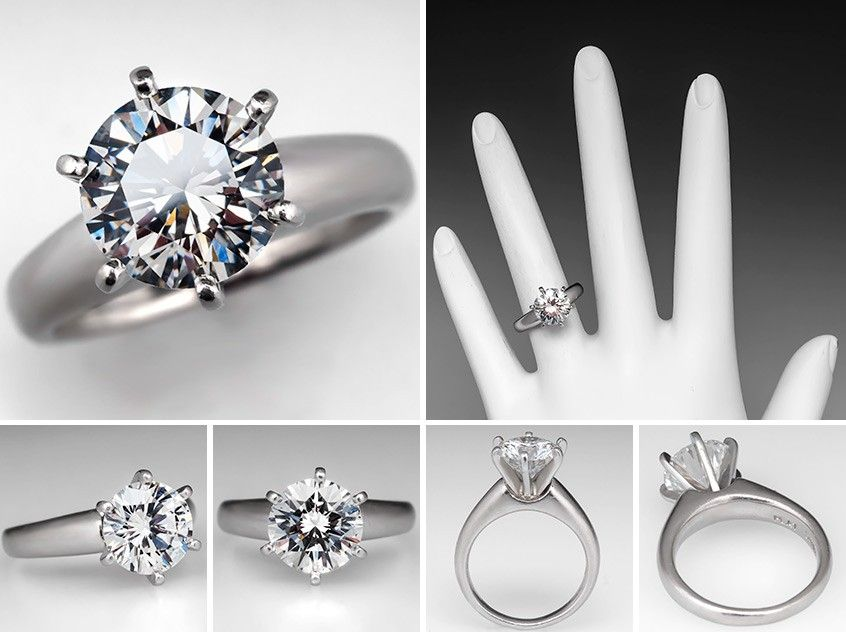 2234d05b3c504 GIA 2 Carat Diamond Solitaire Engagement Ring 6-Prong PlatinumThis ...