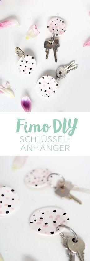 Photo of {DIY} Gesprenkelte Schlüsselanhänger aus Fimo | mein feenstaub