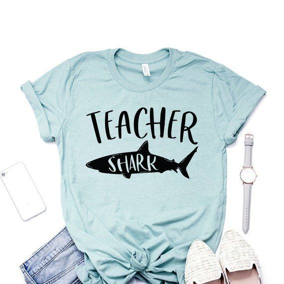 Teacher Shark Shirt, Teacher Shirt, First Day Of School, Back To School, End Of The Year, Teaching Shirt, Unisex Graphic Tee #firstdayofschooloutfits