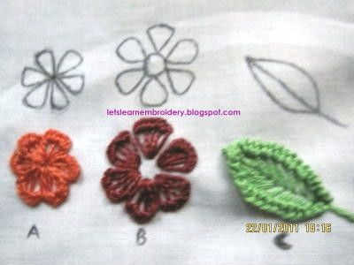 Let's learn embroidery: Frilled buttonhole flowers