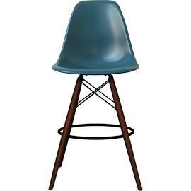 eames inspired vanilla dsb style bar stool with walnut legs