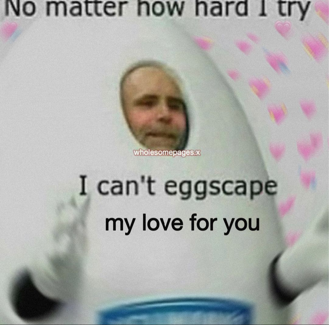 No Matter How Hard I Try Cant Eggscape My L Wholesome Memes Cute Love Memes Love Memes
