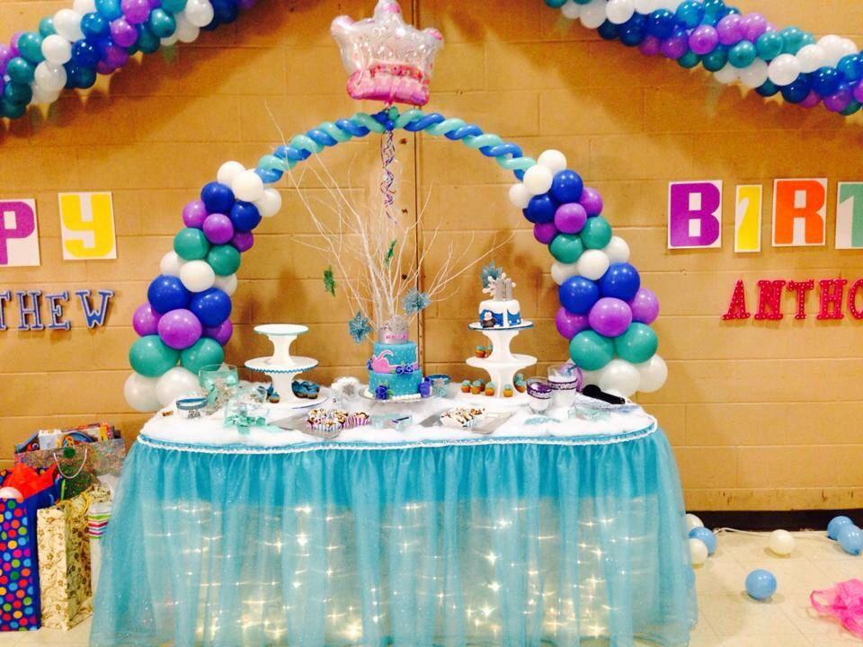Frozen disney diy cake table Frozen theme birthday Pinterest
