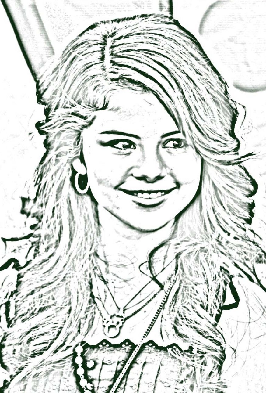 Free Printable Wizards Of Waverly Place Coloring Pages | Selena ...