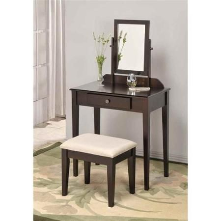 Space Saver Wood Vanity and Vanity Bench Set | 11. Remo Kids Rooms ...