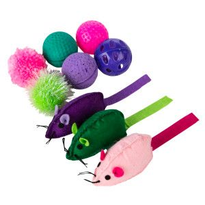 Grreat Choice Trade Ball Mice Value Pack Cat Toy Cat Toys Cat Ball Mean Cat