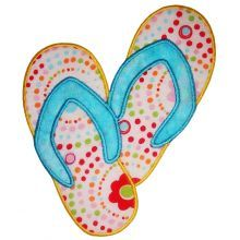 Free Applique Patterns Download | Free Flip Flop Embroidery