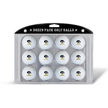 Team Golf Ncaa Iowa Golf Balls, 12 Pack, Black