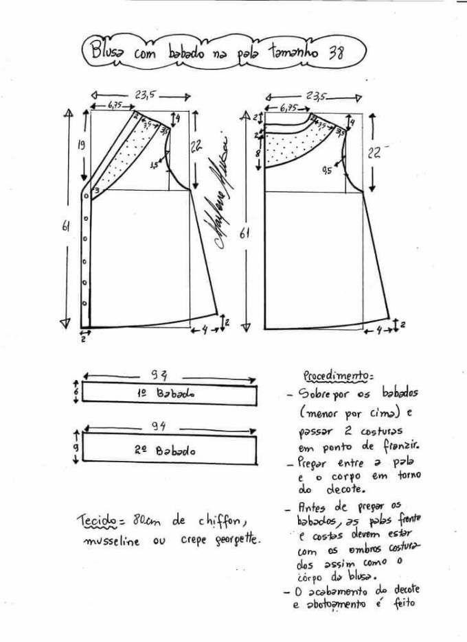 Blusa con solapa y volante | Patrones | Costura, Blusas y Patrones