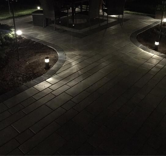 Hampton Bay Low Voltage Black Outdoor Integrated Led Round Bollard
