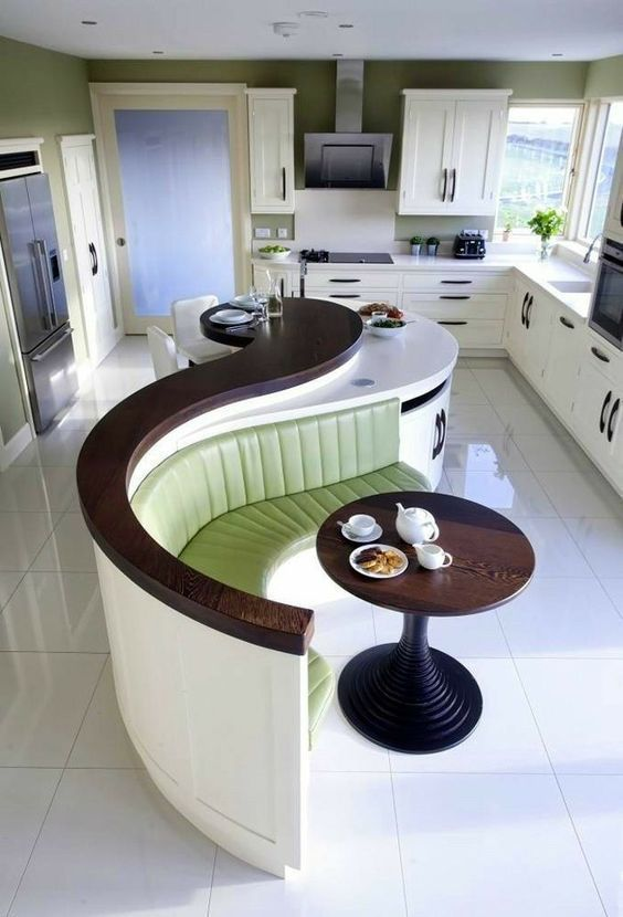 Photo of Kitchen * white-brown in a contemporary design. – Best WohnKultur Blog