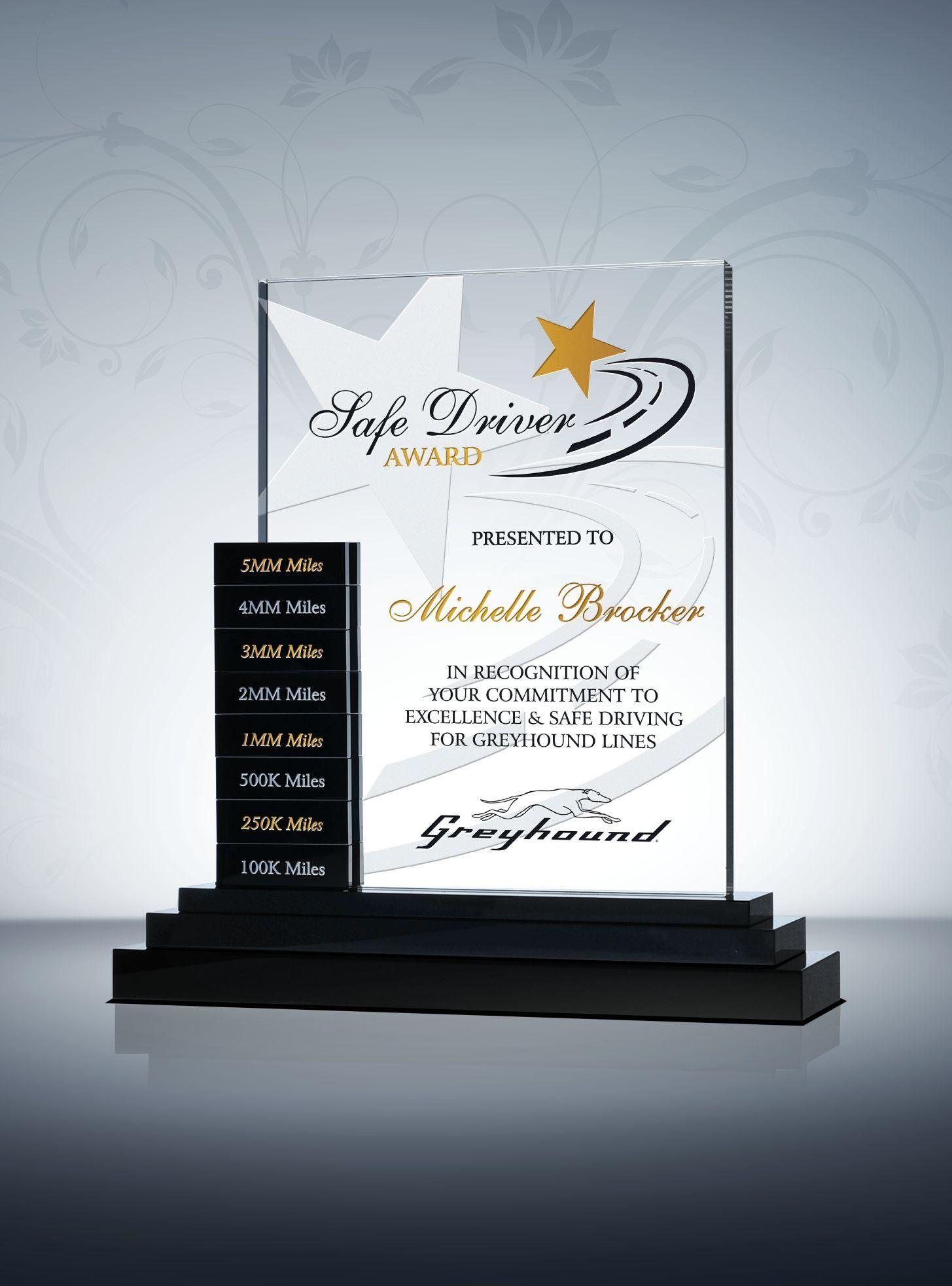 Safety Goal Setter Plaque Sample Wording Ideas Glass Awards Plaque Certificate Design