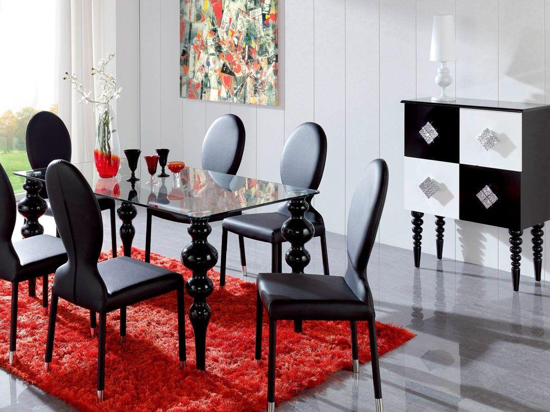 Dupen 7671001 Diningroom Set Black  This Dining Set Offers A Enchanting Ultra Modern Dining Room Inspiration