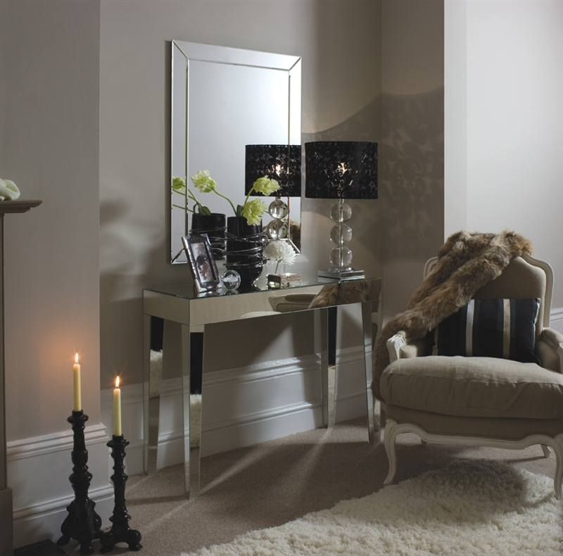 mirrored furniture grey wall color Home Decor Pinterest