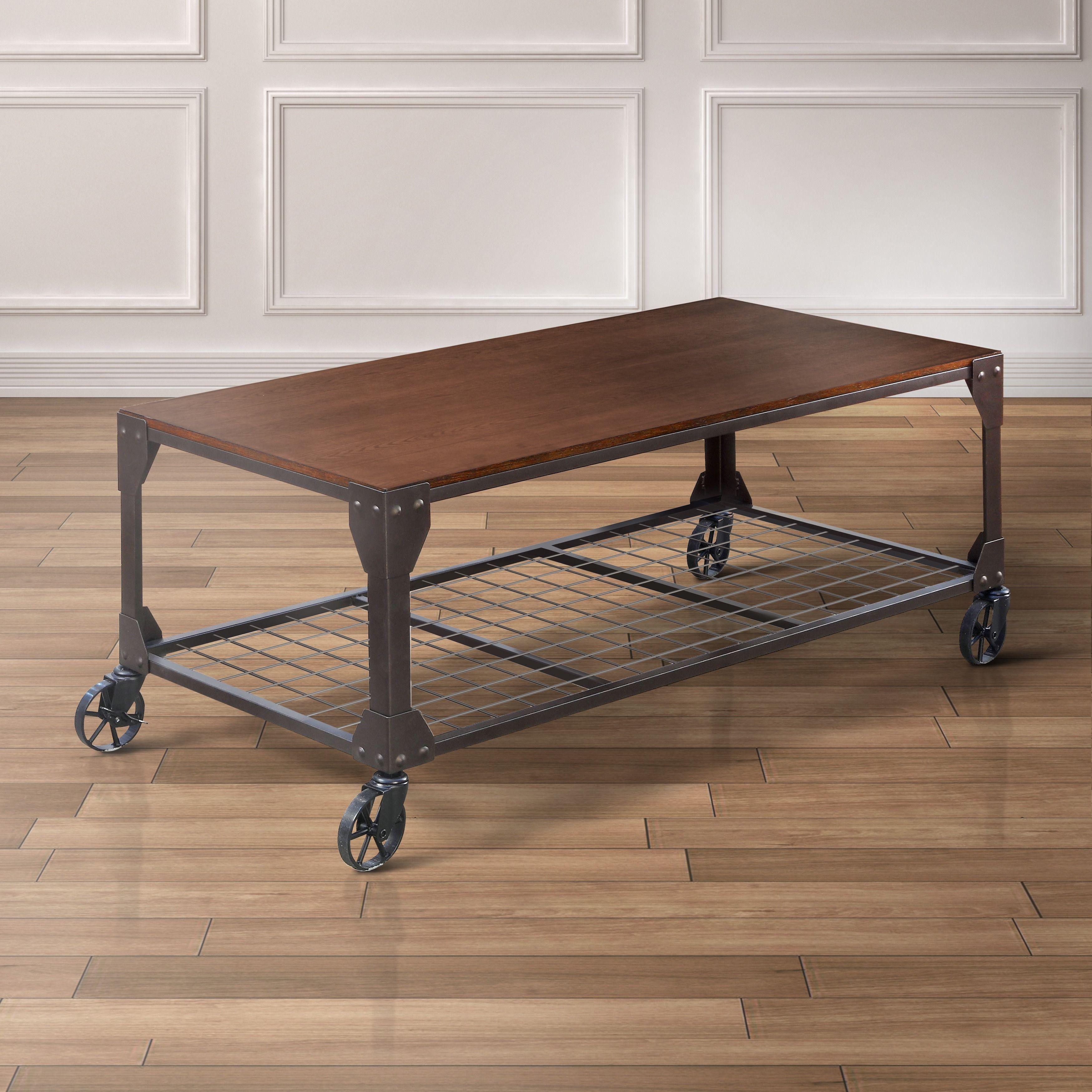 Furniture Of America Karina Industrial Style Coffee Table
